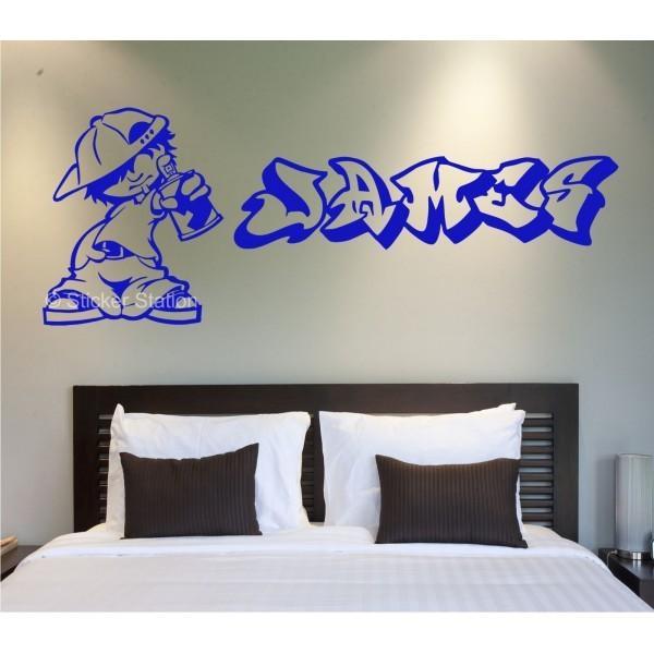 Graffiti Artist Personalised Wall Art Sticker – Sticker Station For Graffiti Wall Art Stickers (View 12 of 20)
