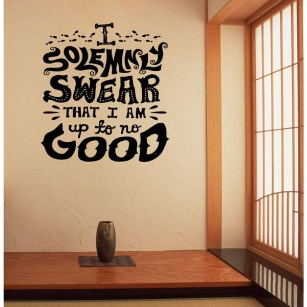 Graffiti I Solemnly Swear I Am Up To No Good Wall Art Sticker Throughout Graffiti Wall Art Stickers (Image 14 of 20)