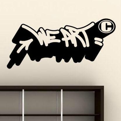 Graffiti Wall Sticker – We Art 01Jaye Nilko – Paristic Throughout Graffiti Wall Art Stickers (View 18 of 20)