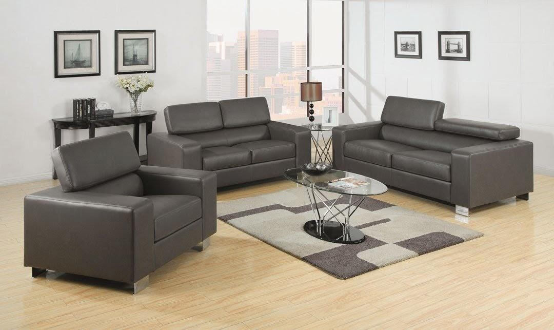 Gray Couch: Gray Leather Couch Within Charcoal Grey Leather Sofas (Image 9 of 20)