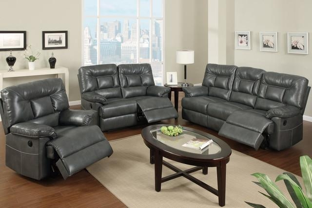 Gray Leather Couch – Themoatgroupcriterion Regarding Charcoal Grey Leather Sofas (Image 10 of 20)
