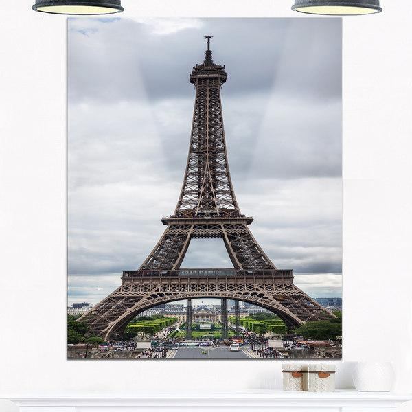 Grayscale Eiffel Tower – Cityscape Photography Glossy Metal Wall Throughout Eiffel Tower Metal Wall Art (Image 16 of 20)