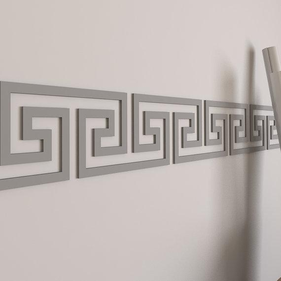 Greek Key Wall Border Wall Border Dorm Decor Greek Throughout Greek Wall Art (Image 11 of 20)