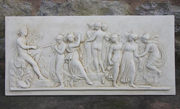 Greek Mythology Plaque Apollo And The Muses – Garden Wall Plaques Intended For Greek Wall Art (Image 12 of 20)
