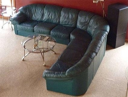 Green Leather Sectional Sofa – Light Green Leather Sectional Sofa With Regard To Green Leather Sectional Sofas (Image 14 of 20)