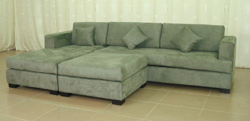 Green Microfiber Sofa Pertaining To Green Microfiber Sofas (Image 11 of 20)