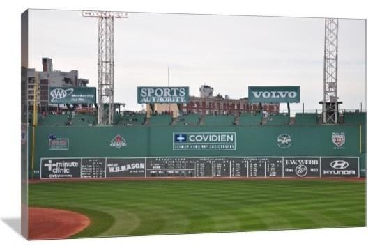 Green Monster, Fenway Park, Boston Red Sox Gallery Wrapped Canvas Throughout Red Sox Wall Art (Image 16 of 20)