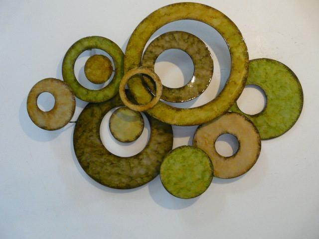 Green Wall Art Metal – Intermission In Green Metal Wall Art Panel Throughout Lime Green Metal Wall Art (Image 6 of 20)