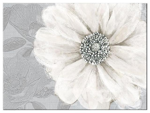 Grey Bloom Canvas Wall Art – Contemporary – Artwork  Graham Intended For Graham & Brown Wall Art (Image 12 of 20)