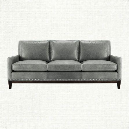 Grey Leather Sofa Simple Decor Classic Traditional Charcoal Gray Regarding Charcoal Grey Leather Sofas (View 9 of 20)