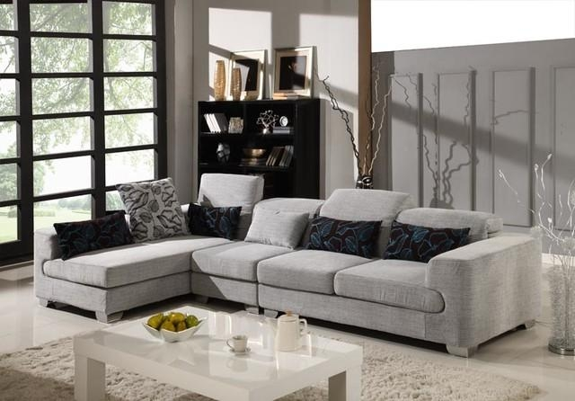 Grey Microfiber Sectional.grey Microfiber Sectional Couch (View 7 of 20)