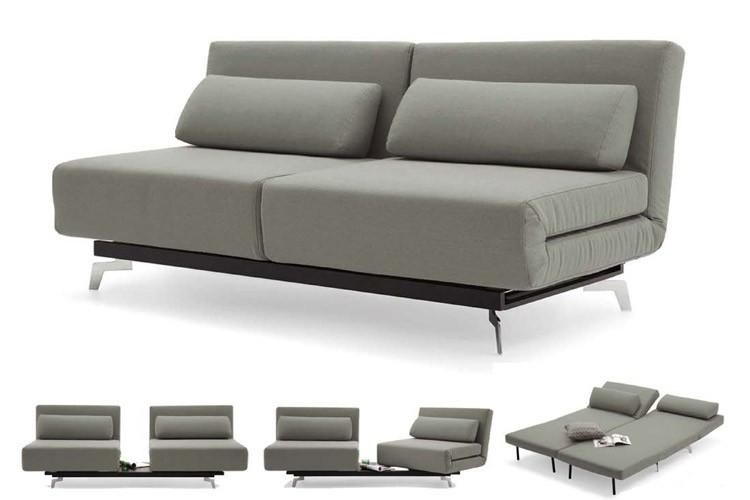 Grey Modern Futon Sofabed Sleeper | Apollo Couch Futon | The Futon Pertaining To Small Black Futon Sofa Beds (Image 13 of 20)