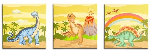Groovy Things – Fantasy Fields – Dinosaur Canvas Wall Art Set With Dinosaur Canvas Wall Art (Image 14 of 20)
