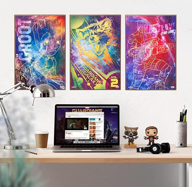 Guardians Of The Galaxy 2 Wall Art – Exclusive | Thinkgeek Intended For Exclusive Wall Art (Image 9 of 20)
