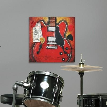 Guitar Canvas Wall Art | Roommates Within Guitar Canvas Wall Art (View 9 of 20)