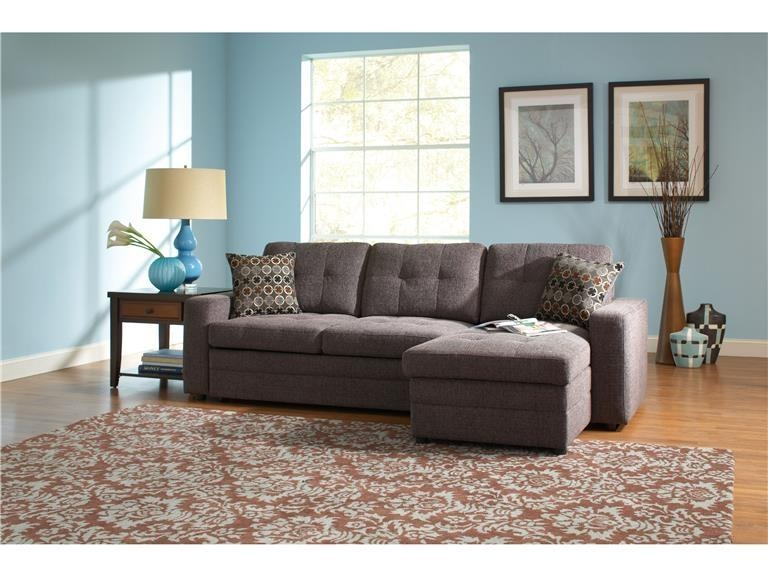 Gus Charcoal Chenille Sleeper Sectionalcoaster – 501677 Throughout Chenille Sectional Sofas (Image 12 of 20)