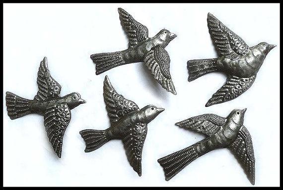 Haitian Metal Art Bird Wall Art – Steel Drum Metal Art Wall Hangings For Flock Of Birds Metal Wall Art (View 20 of 20)