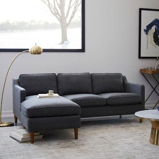 Hamilton 2 Piece Chaise Sectional | West Elm Inside Hamilton Sofas (Image 2 of 20)