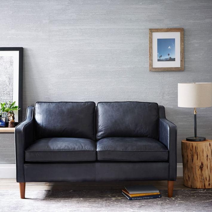 "Hamilton Leather Loveseat (56"") 