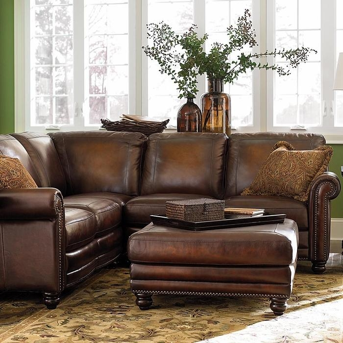 Hamilton Leather Sectional Sofabassett Furniture – Bassett Regarding Hamilton Sofas (Image 4 of 20)