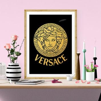 Hamsa Hand Wall Art Print – Modern Home From Quantumprints On Within Versace Wall Art (Image 8 of 20)