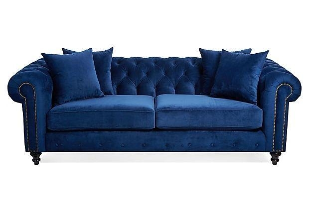 Hand Crafted Blue Velvet Chesterfield Sofaheaven Antique And With Regard To Purple Chesterfield Sofas (Image 13 of 20)