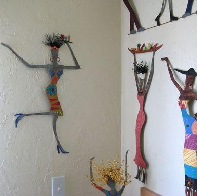 Hand Crafted Handmade Upcycled Metal Exotic African Lady Wall Art With African Metal Wall Art (Image 15 of 20)