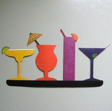 Hand Crafted Handmade Upcycled Metal Martini Wall Art Sculpture With Regard To Martini Glass Wall Art (Image 9 of 20)