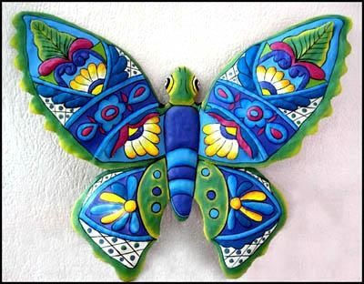 Hand Painted Butterflies – Butterfly Wall Art – Metal Wall Decor In Large Metal Butterfly Wall Art (View 15 of 20)