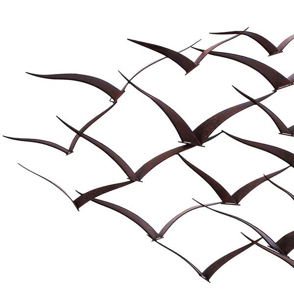 Handcrafted Flock Of Metal Flying Birds Wall Artoverstock Within Flock Of Birds Wall Art (Image 16 of 20)