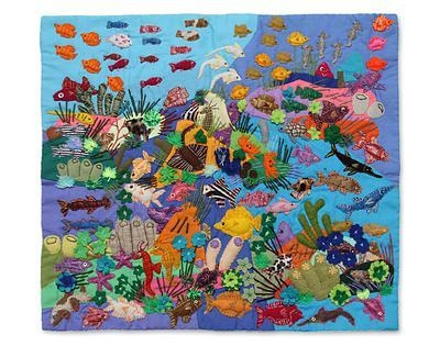 Handcrafted Peruvian Folk Art Wall Hanging – Underwater World | Novica Throughout Peruvian Wall Art (Image 10 of 20)
