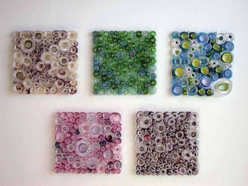 Handmade Glass Wall Panel Art Work, Fused Tubing Serieswolf Pertaining To Fused Glass Wall Art Panels (Image 18 of 20)