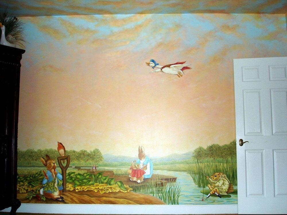 Handmade Peter Rabbit Mural Inspiredbeatrix Potter In Peter Rabbit Wall Art (Image 13 of 20)