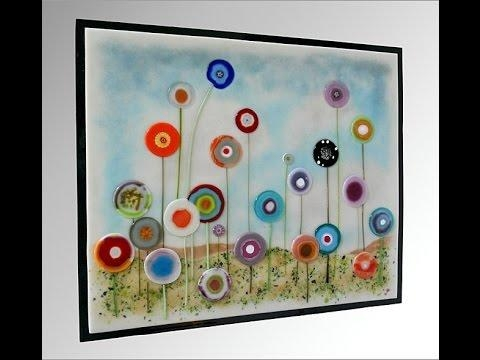 Hanging Glass On Walls – Youtube Regarding Fused Glass Wall Art Hanging (Image 19 of 20)