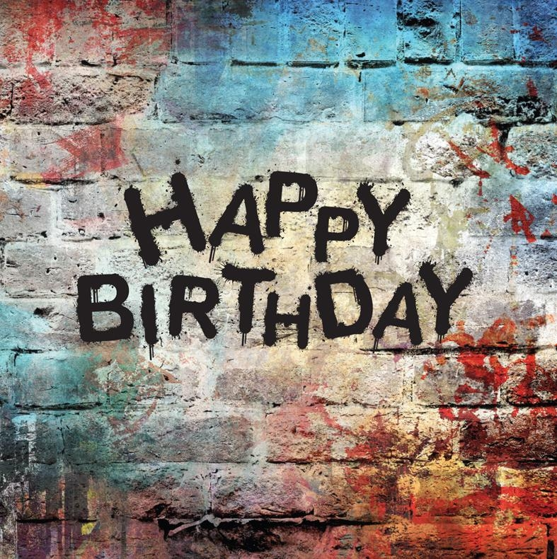Happy Birthday, Graffiti Wall | Cheeky Pink Cards With Happy Birthday Wall Art (Image 16 of 20)