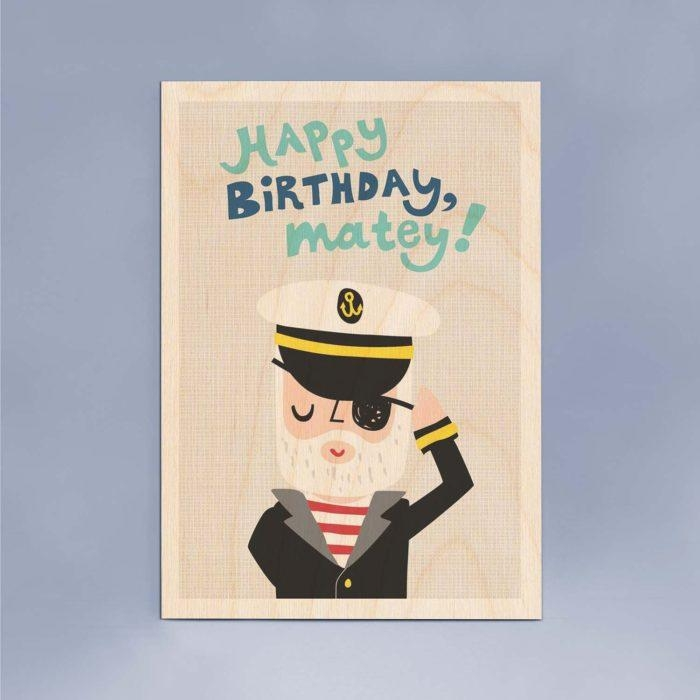 Happy Birthday Matey Wooden Timbergram Wall Art – Wooden Postcards With Happy Birthday Wall Art (Image 13 of 20)