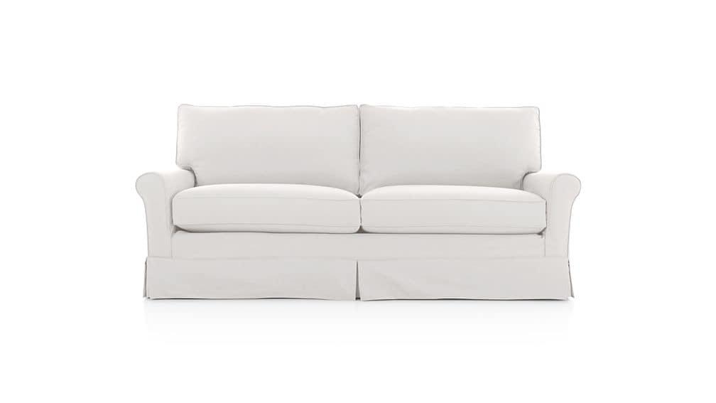 Harborside Slipcovered Full Sleeper | Crate And Barrel Within Crate And Barrel Sofa Sleepers (Image 11 of 20)