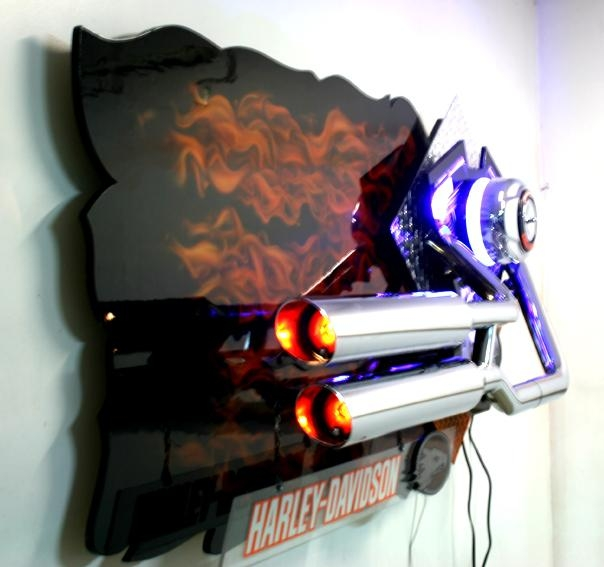 Harley Davidson Wall Art Intended For House – Researchpaperhouse Regarding Airbrush Wall Art (Image 10 of 20)