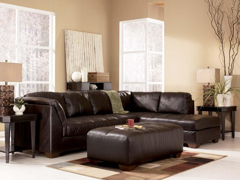 Harrington Chocolate Sectional Sofa Signature Designashley Throughout Signature Design Sectional Sofas (Image 8 of 20)