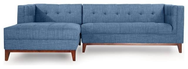 Harrison Midcentury Twil Sofa Chaise Sectional – Modern Throughout Harrison Sofas (Image 10 of 20)