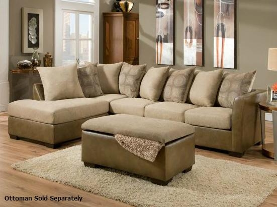 Harrison Taupe Sectional Sofa – Steal A Sofa Furniture Outlet Los Intended For Harrison Sofas (Image 12 of 20)