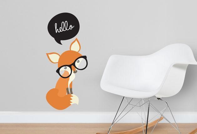 Hello Fox – Twiggy With Twiggy Vinyl Wall Art (View 17 of 20)