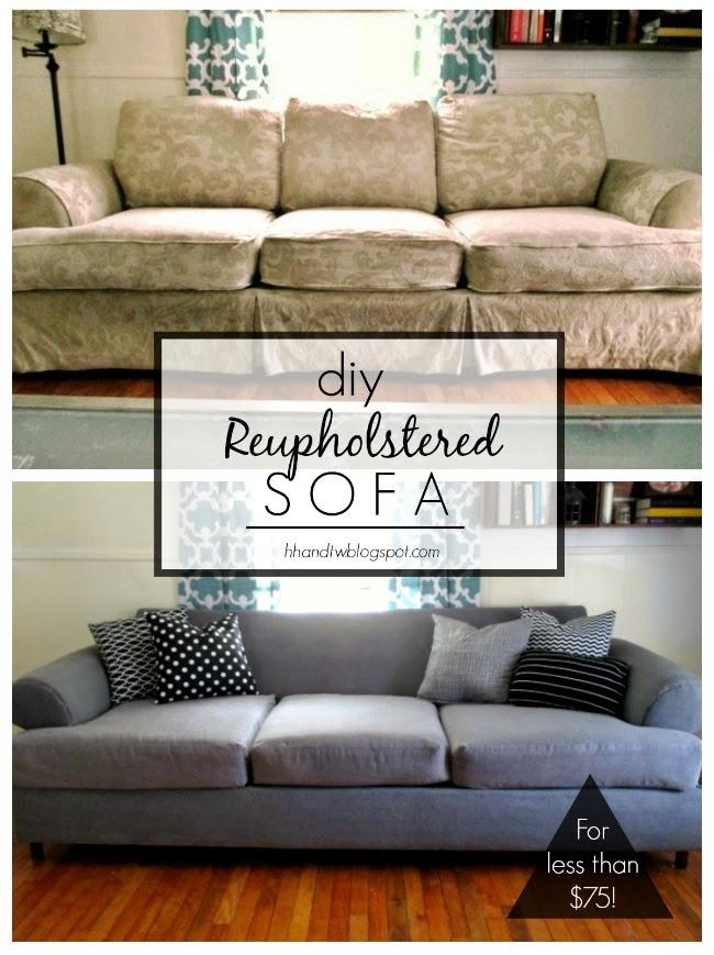 High Heels And Training Wheels: Diy Couch Reupholster With A Inside Reupholster Sofas Cushions (Photo 2 of 20)