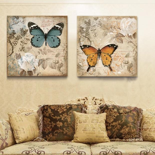 High Quality Butterfly Canvas Art Buy Cheap Butterfly Canvas Art Within Butterfly Canvas Wall Art (Image 15 of 20)
