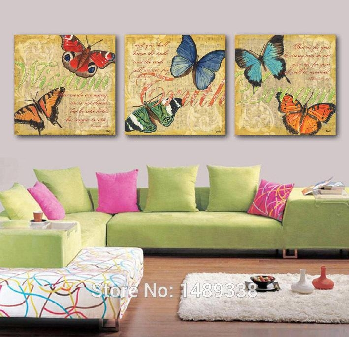 High Quality Butterfly Canvas Buy Cheap Butterfly Canvas Lots From Pertaining To Butterfly Canvas Wall Art (Image 16 of 20)