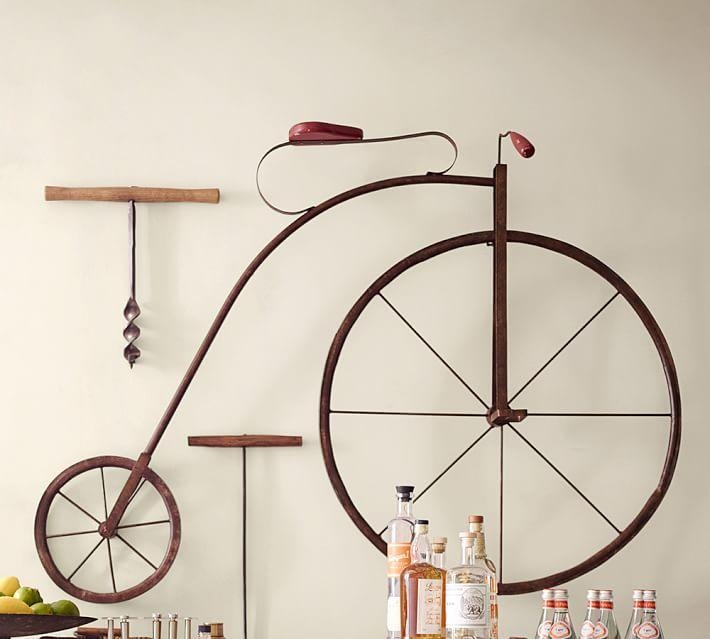 High Wheel Bicycle Wall Art | Pottery Barn Regarding Metal Bicycle Wall Art (View 7 of 20)