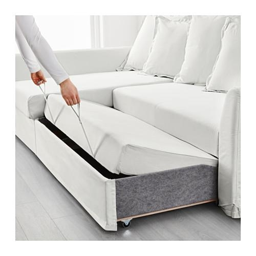 Holmsund Corner Sofa Bed Ransta White – Ikea Pertaining To Corner Sofa Beds (Image 16 of 20)