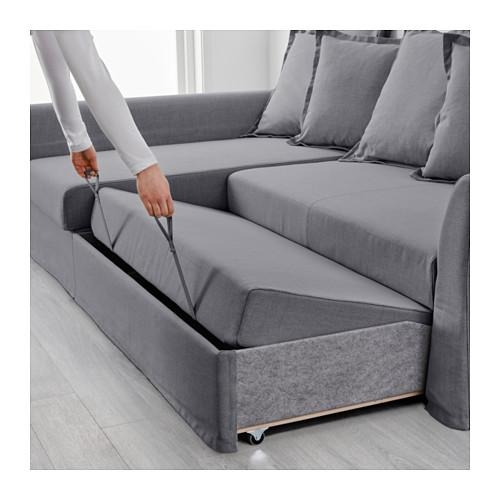 Holmsund Corner Sofa Bed – Ransta White – Ikea With Regard To Corner Sofa Beds (Image 15 of 20)