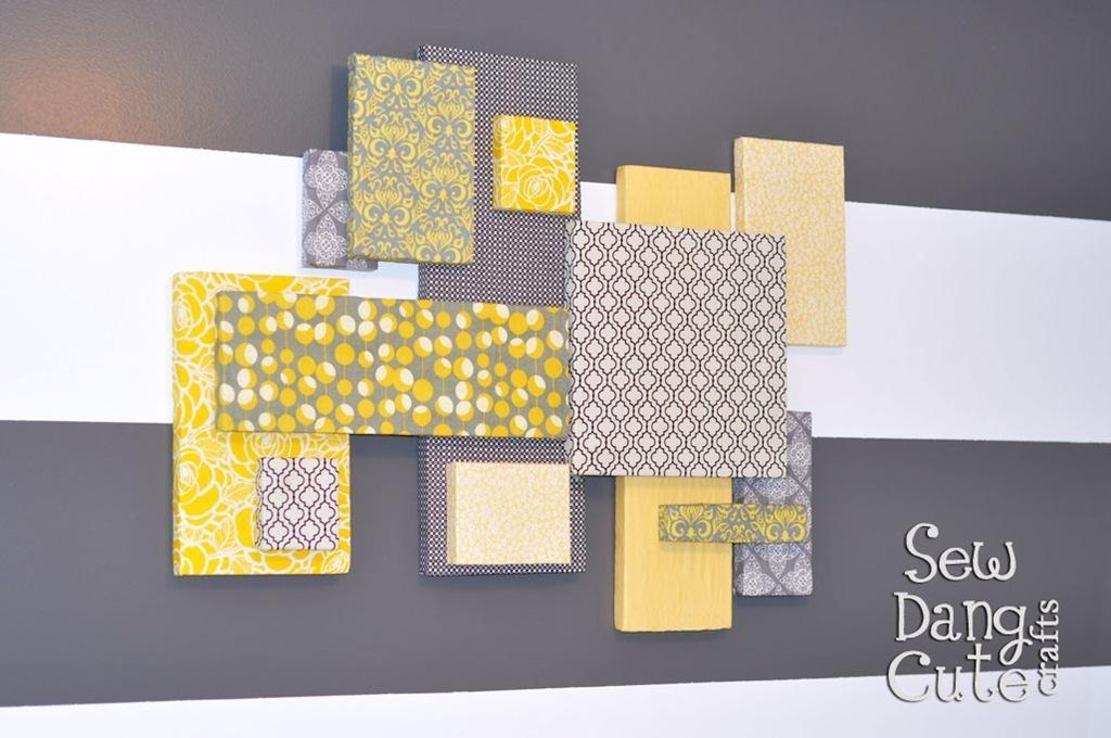 Home Dec Tutorial: Diy Custom Wall Art With Fabric + Foam (It's Inside Fabric Wall Art (View 20 of 20)
