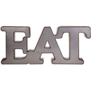 "Home Essentials Metal Word Wall Art – ""Eat"" 